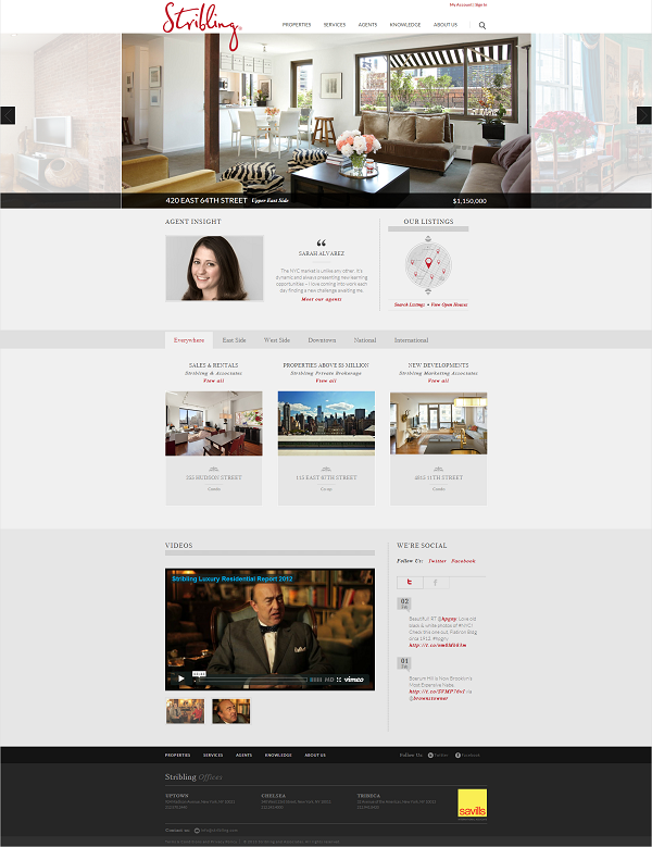 Best new york real estate website design companies top for Luxury new york city real estate
